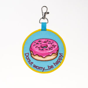 Donut Worry Bagtag-large