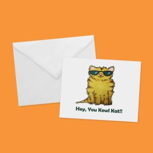 Kewl Kat! Greeting Card