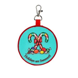 Candy Cane Backpack Keychain