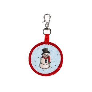 snowman mini backpack keychain